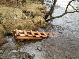 Canoe launch low force for the North Pennine AONB partnership