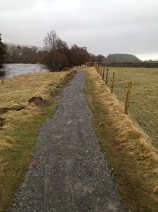 Aggregate work on the Pennine way