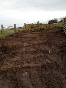 Stone pitched silt trap for The North Tyne Rivers Trust